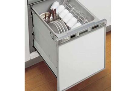 食器をスピーディーに洗浄、乾燥まで行い衛生的なスライド型の食器洗い乾燥機