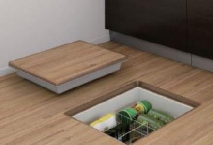 普段使わないような物を片付けたり、長期保存がきく食品保管に最適な高気密型床下収納庫