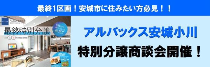 【アルバックス安城小川】最終特別分譲商談会開催!